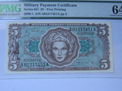 $5 Military Payment Certificate 651