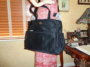 NWT TORY BURCH  Nylon TRAVEL BABY DIAPER SHOULDER Bag  BLACK  $395