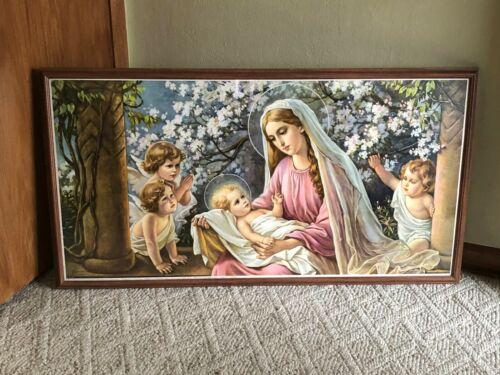 Antique Madonna With Child Jesus Giovanni Framed Color Print