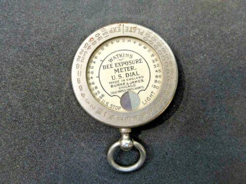 Vintage Watkins Bee Exposure Meter, US Dial, Camera Film