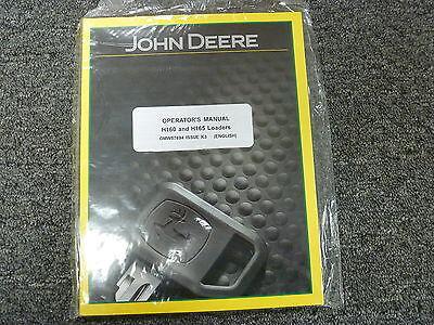 John Deere Models H160 H165 Front End Loaders Owner Operator Manual Omw57694