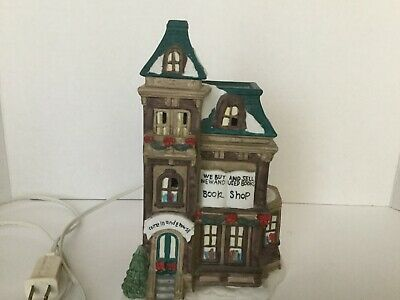 VTG Four Star Int'l Lighted Christmas Village Book Shop Buy and Sell Assessories