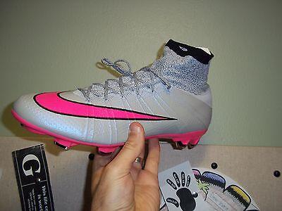 Men's Nike Mercurial Superfly FG Sz. 12.5 (641858 060) Wolf Grey/Hyper Pink