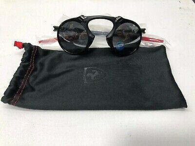 NEW Oakley Madman Scuderia Ferrari Dark Carbon Black Iridium Polarized OO6019-06
