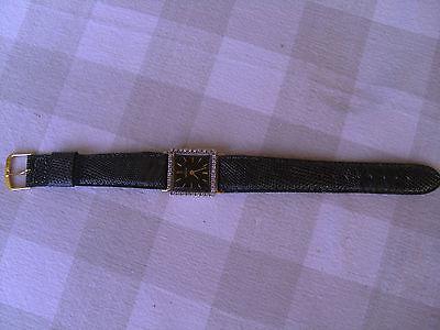 Ladies 14 K gold Angelus Diamond Watch