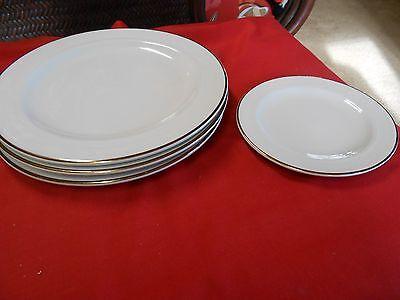 Magnificent Homer Laughlin  Lyrica  3 Dinner Plates   Free Dessert Plate