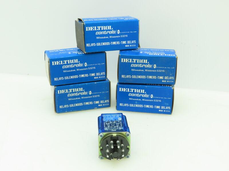 Deltrol Controls 105 20107-81 SPDT Relay 12 VAC Coil 5 Amp Lot of 5