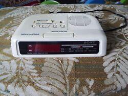 Sony Dream Machine AM/FM Radio/Alarm Clock Model ICF-C25 Tested Works Great