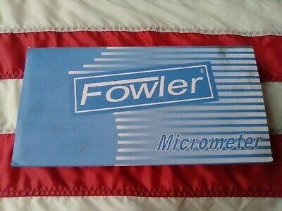 Fowler 3-4 Micrometer .0001