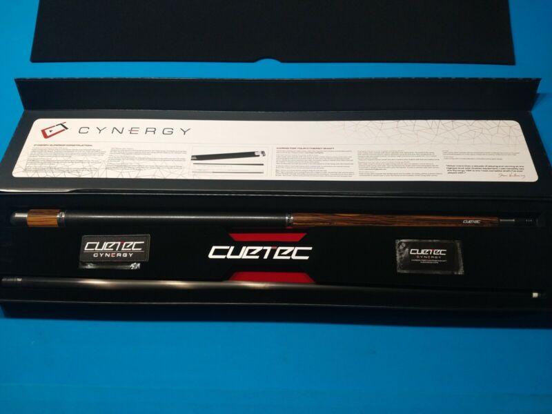 USED CUETEC CT940 EBONY CYNERGY POOL CUE, CARBON FIBER 12.5 SHAFT