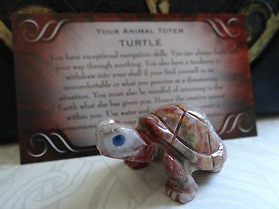 *TURTLE* Carved Stone Figurine Totem Wiccan Pagan Familiar Metaphysical