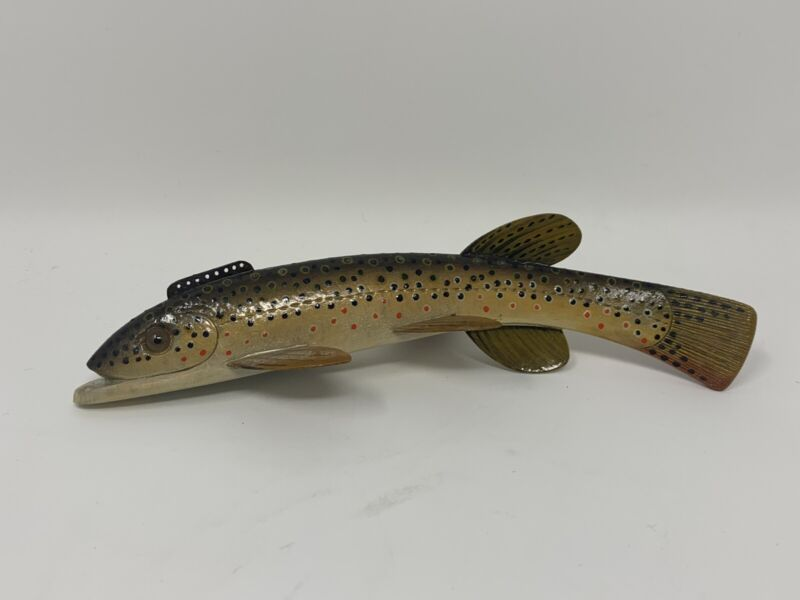 """Sonny Bashore 7"""" BROWN TROUT ICE FISHING DECOY"""