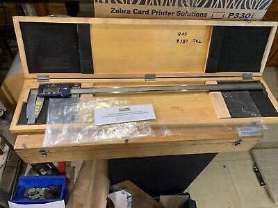 Fowler Electronic Caliper 24 600mm Model 54-100-024-1 Wwooden Case