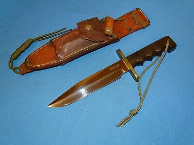 Rare Vietnam War Randall Model 14 Fighting Knife w/ Modified Sheath