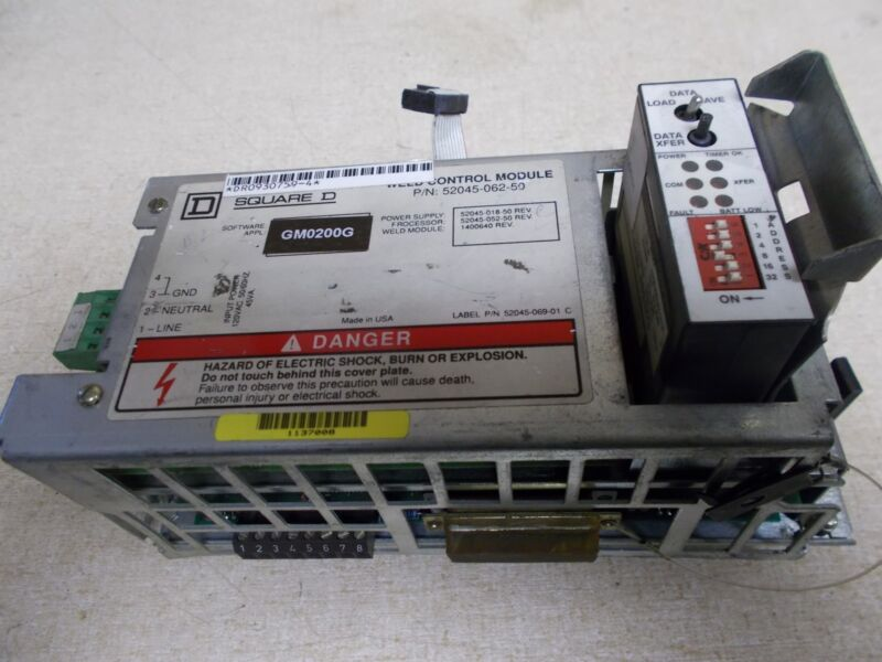 Square D Weld Control Module 52045-062-50 w/ Memory Module *FREE SHIPPING*