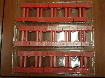 30 Numbered Red Snap Tracker Container Bolt Security Seals Cargo High-security