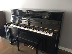 Black Yamaha piano