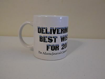 Vintage Atlanta Journal Constitution 2007 Holiday Coffee Tea  Mug Cup Ajc