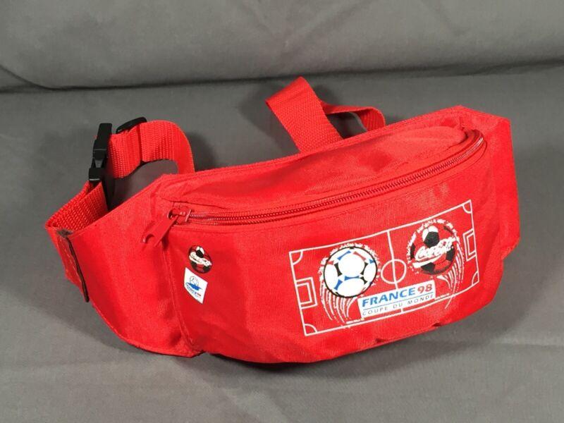Coca Cola Red Fanny Pack Waist Bag Purse Belt Bag Red Soccer Coke France 98
