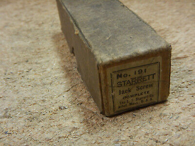 Vintage Starrett Machinist Jack Screw With Box And Attachments