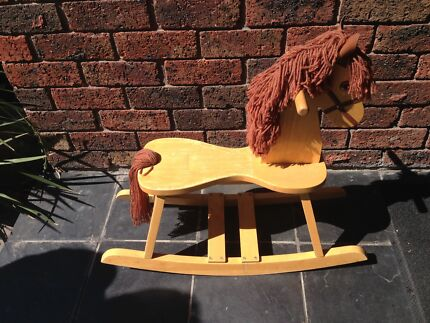 Gorgeous wooden rocking horse Oakleigh Monash Area Preview