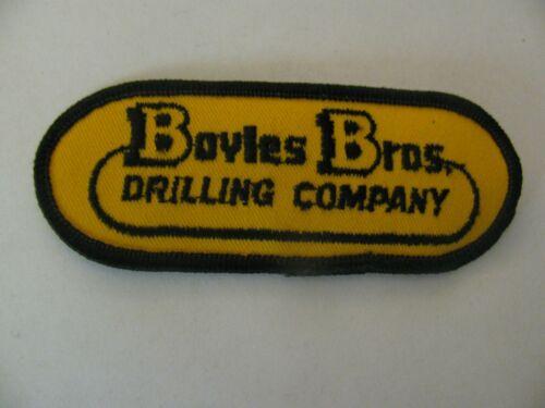 "Vtg BOYLES BROS DRILLING COMPANY ( Salt Lake City UT) 4.25""  patch NOS FREE SHIP"