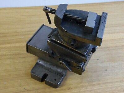Vintage Milling Machine Table Vise 3 Axis 2 Toolmaker Metal Worker Drill Press