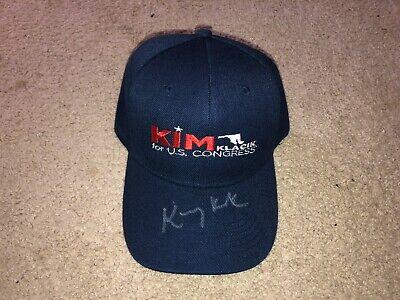 KIM KIMBERLY KLACIK FOR US U.S. CONGRESS SIGNED LOGO HAT COA TRUMP ENDORSED