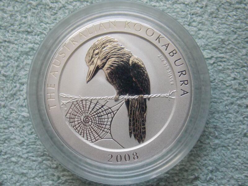 2008 AUSTRALIAN SILVER KOOKABURRA 2 OZ BU
