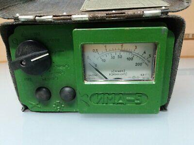 Dosimeter Imd-5 Rare Soviet Radiometer Radiation Dose Meter Vintage Ussr