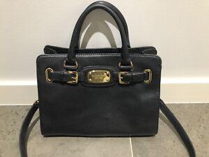 381c9004fb17 Black Leather MICHAEL KORS est 1981 tote shoulder bag