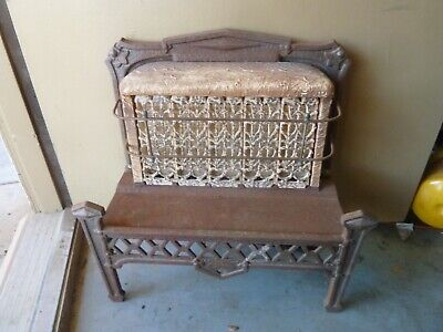 ANTIQUE CAHILL JAY-DEE CAST IRON, CERAMIC,GAS HEATER, STOVE 190 FRAME
