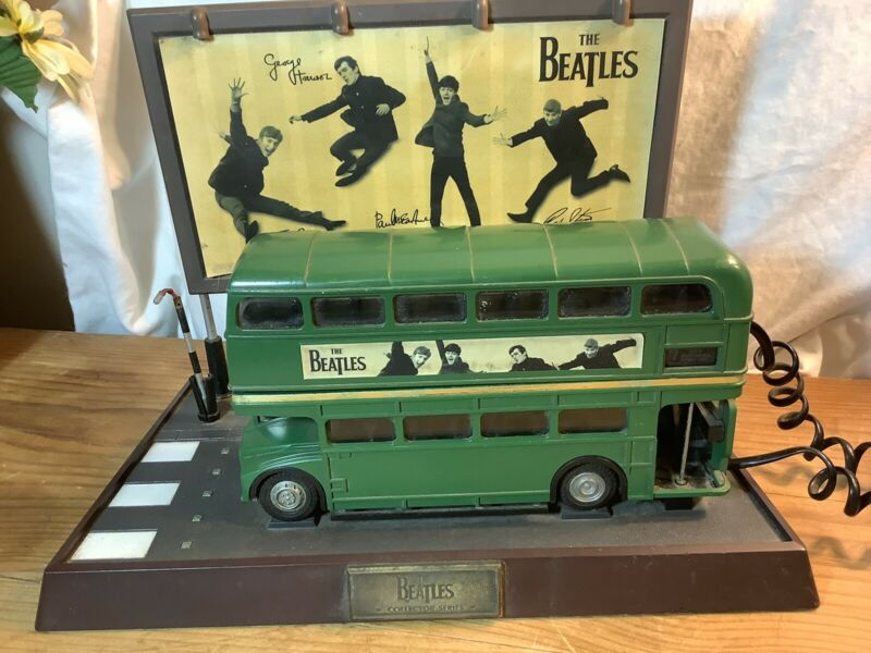Vintage Beatles Route Master Green Double Decker Telephone