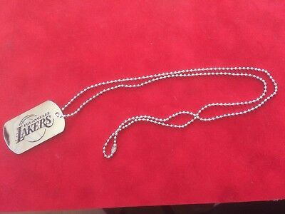 Los Angeles Lakers Dog-tag Necklace with 28 inch chain - New - NBA - Basketball