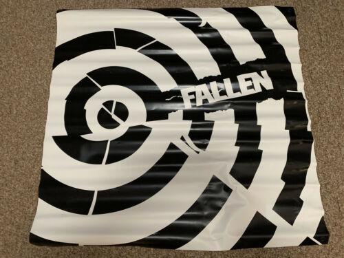 New Rare Fallen Footwear Skateboard Bullseye 36x36in Vinyl Banner POP