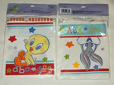 Looney Tunes Party Supplies (~~~ BABY LOONEY TUNES ALPHABET  ABC 123~~1- HAPPY  BDAY BANNER  PARTY)