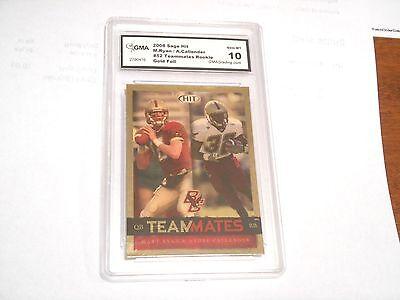 Matt Ryan GRADED ROOKIE!! Gem Mint 10!! 2006 Sage Hit Gold Foil #52 Falcons -3! 3 Stone Gold Foil