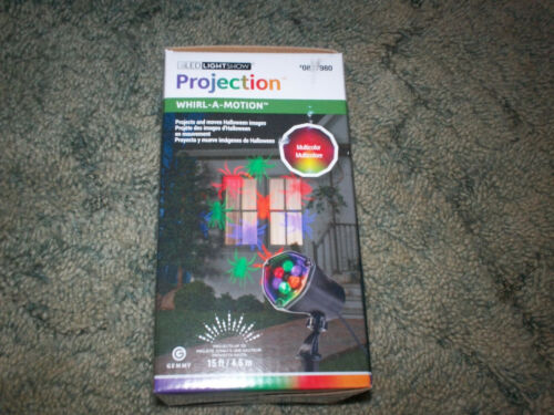 NIB LED LIGHTSHOW PROJECTION WHIRL-A-MOTION STAKE HALLOWEEN LIGHT BUGS