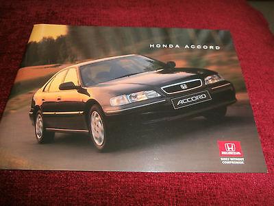 Honda Accord Saloon 1996-97 . Brochure  VTEC ES LS S TD. MINT uncirculated.