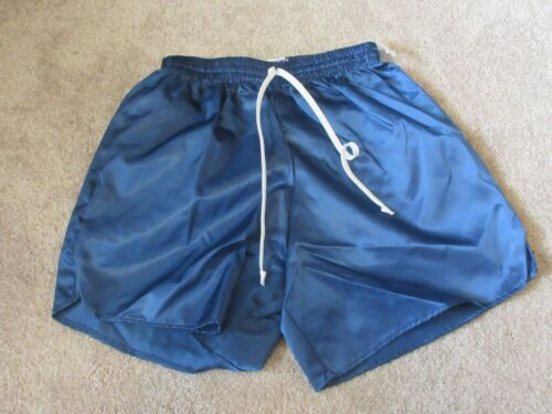 NEW 80s DYNAMIC TEAM SPORTS Blue Youth Large Nylon YL Vintage Soccer shorts