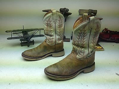 - TONY LAMA COWBOY CREPE DISTRESSED MADE IN USA WESTERN ENGINEER CHORE BOOTS 8.5 M