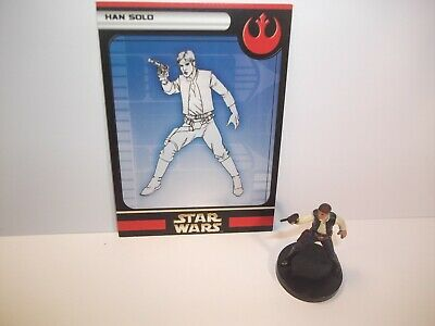 Star Wars Miniatures - Han Solo 07/60 + Card - Rare - Rebel Storm