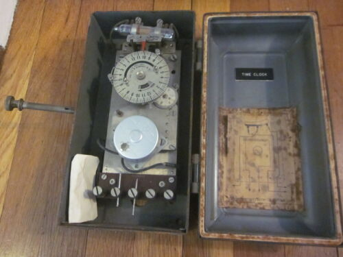 RARE Antique RW CRAMER NY Synchronous Motor Time Clock Swiss Switch MUSEUM PIECE