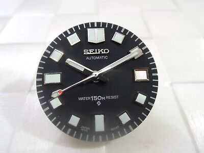 NEW SEIKO REPLACEMENT WHITE LUME DIAL & HANDS FITS 6105-8110/8119 DIVERS WATCH for sale  Shipping to United States