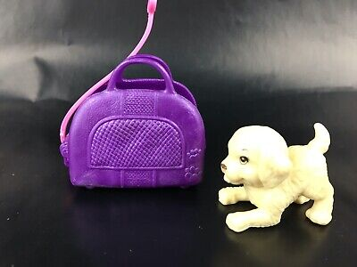 Barbie Chelsea Doll Puppy With Stroller Dog Bag Carry Animal Case Pet Purse