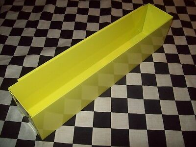 "20"" YELLOW TOOL BOX AEROSOL SPRAY CAN HOLDER snap 2 use- hang on side ORGANIZER"