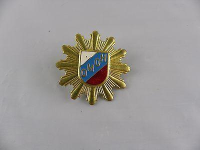 Vtg Russian Soviet CCCP Police Swat Unit Hat Pin Badge OMOH gold tone enamel