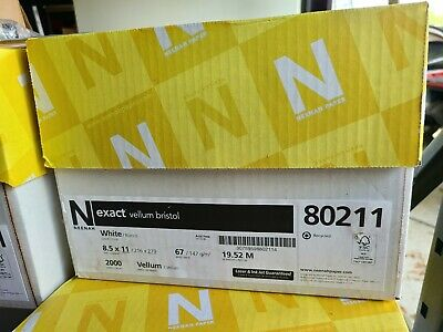 Neenah Paper Exact Vellum Bristol Copyprint White 92 Bright 67lb 8.5x11 Case
