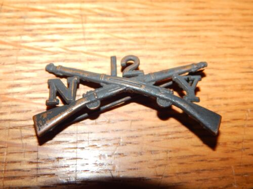 ANTIQUE PRE WWI 12TH NY INFANTRY BADGE NEW YORK US ARMY
