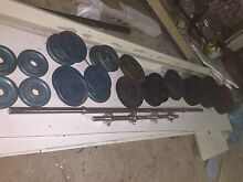 Bar bell, 2 Dumbbells, various free weight plates Oyster Bay Sutherland Area Preview